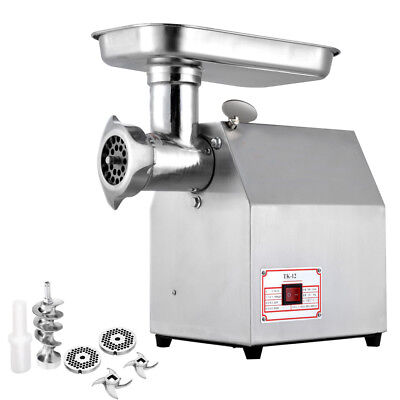 Commercial Grade 1HP Electric Meat Grinder 800W Stainless Steel Heavy Duty