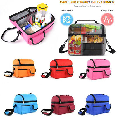 Large Insulation Waterproof Lunch Bag School Office Food Storage Gift Adult/Kids