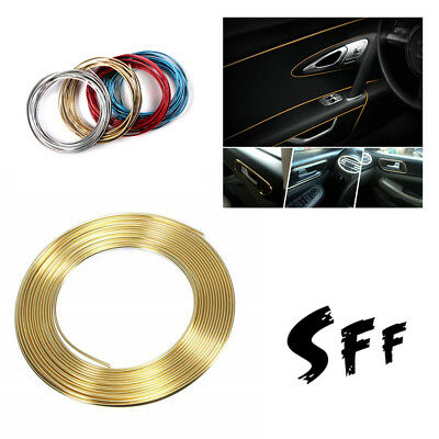 CAR Universal Interior Gap Decorative AUTO ACCESSORIES Gold Line 5M CHROME Shiny