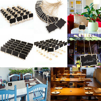 Mini Wooden Writing Blackboard Chalkboard Place Cards for Parties Receptions