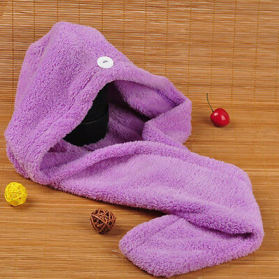 Large Dry Quick Magic Hair Turban Towel Microfibre Hair Wrap Bath Towel Cap Hat