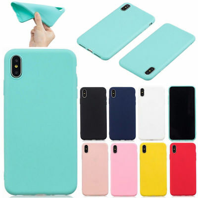 For Huawei Xiaomi iPhone Shockproof Ultra Slim Soft TPU Silicone Back Case Cover