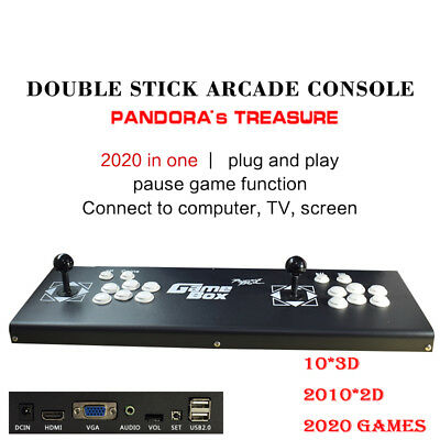 New ALL Metal 2020 Games Pandora Box 3D Arcade Console Machine Retro Video Game