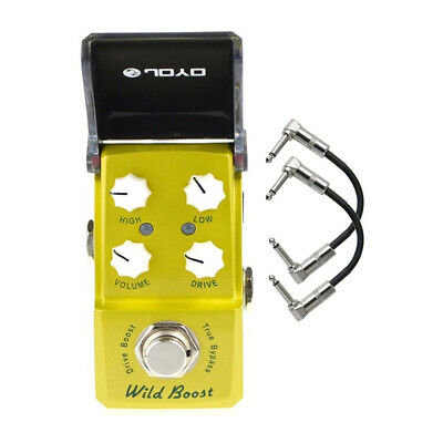 Joyo JF-302 Wild Boost Drive Ironman Mini Guitar Effects Pedal with Patch Cables