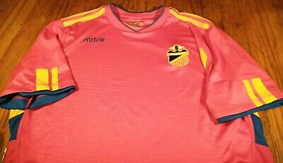 7c31ab28e MITRE ESPANA SPAIN SOCCER JERSEY SHIRT MENS MEDIUM M FOOTBALL FUTBOL RED   Qtp