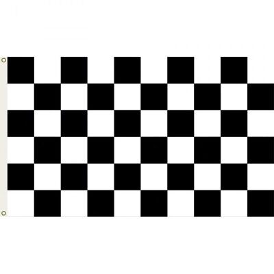 """Racing Chequered 5'' x 3"""" GIANT Racing Flag Party Football"""