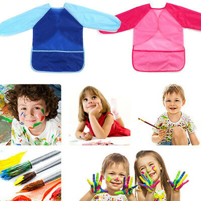 RESULT KIDS CHILDRENS ART SMOCK 2cols PAINTING POTTERY SCHOOL OVERALL BOYS GIRLS