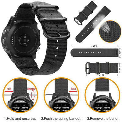 Replacement Nylon Wrist Watch Band Strap For Garmin Fenix 3 / HR / 5X Durable