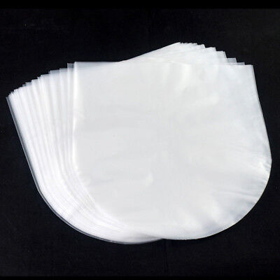 100PCS Antistatic Clear Plastic Cover Inner Sleeves For 12'' LP LD Vinyl Record