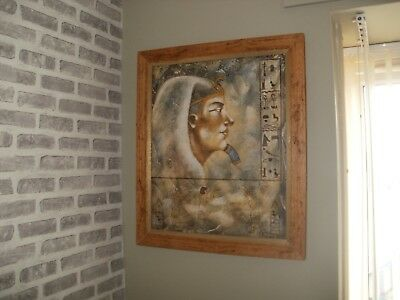 A Stunning Pair Of Oil On Canvas Egyptian  Paintings
