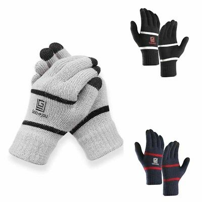 Mens Women Thermal Insulation Touch Screen Winter Warm Gloves For Smartphone UK