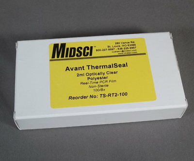 Box-100 Avant ThermaSeal Optically Clear Real-Time PCR Film #TS-RT2-100