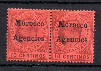 Morocco Agencies KEVII 1903 10c mint pair MNH & LHM WS11271
