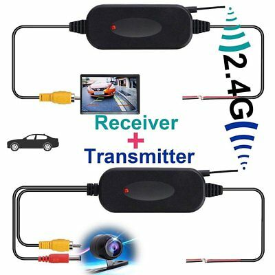 Wireless Rear View Video Transmitter & Receiver for Car Truck Reversing Camera