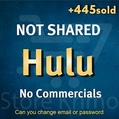 Hulu Premium 2X Account - NOT SHARED - No Commercials - WARRANTY FAST DELIVERY