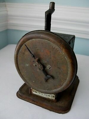 Antique~1900's~American Cutlery Co~20 lb~Brass Face~Kitchen Scale~Chicago, USA