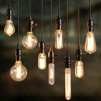 Filament Edison Retro Antique Industrial Style Screw Lamp Light Bulb 40W E27