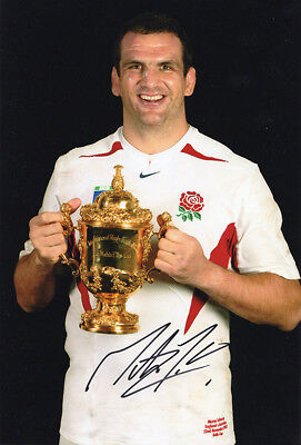 Martin Johnson, England, Rugby World Cup 2003, signed 12x8 inch photo. COA.