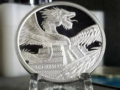 THE AZTEC,#1 World Of Dragons Series 1 oz. .999 SILVER Quetzalcoatl, IN STOCK!!