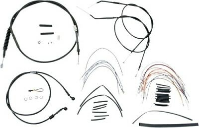 Burly 16 Ape Hanger Handlebar Cable Wire Kit for 2007-2013 Harley B30-1005