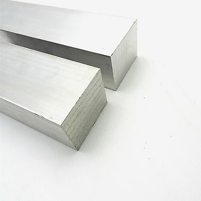 "3"" x 3.5"" Aluminum Solid 6061 FLAT BAR 5.875""Long mill stock Pieces 2 sku K323"