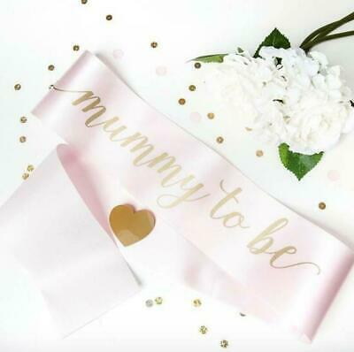 Luxury Mummy Mum to Be Sash Baby Pink - Gold Text Gift for Babyshower Its a Girl
