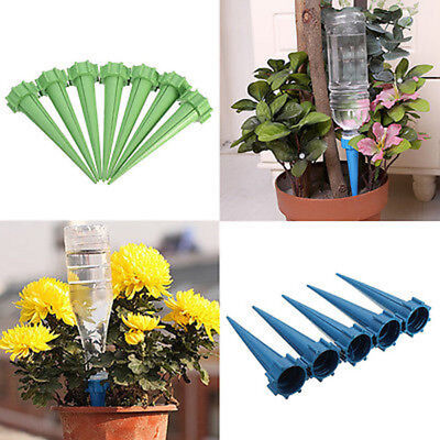 2x Automatic Garden Cone Watering Spike Plant Flower Waterers Bottle Irrigation