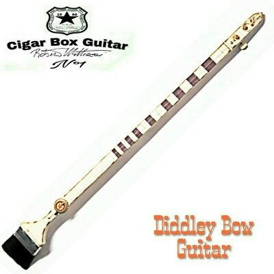 New Cigar Box Guitar Diddley bow one string. Robert Matteacci