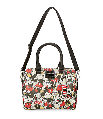 Disney Parks Mickey And Minnie Mouse Satchel By Loungefly