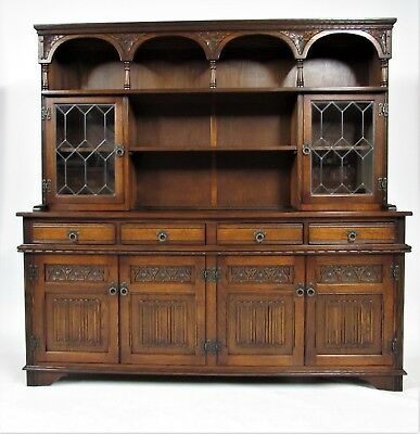 Old Charm Sovereign Welsh Dresser in Tudor Brown - Delivery Option Available