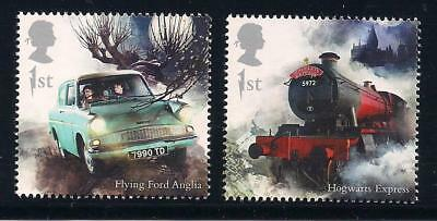Harry Potter - Hogwarts Express & Flying Ford Anglia - New 2018 British Stamps