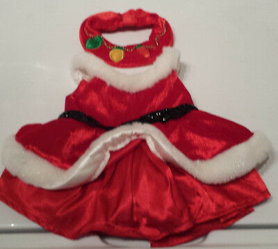 BUILD A Bear WORKSHOP Santa MRS Claus RED White DRESS Christmas HOLIDAY! LN