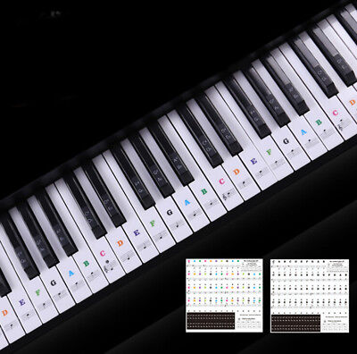 Keyboard Piano Multicolor Removable Piano and Keyboard Stickers for 49 61 76 88E