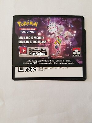 Pokemon Ptcgo X4 Jumpluff Online League Promo LOST THUNDER