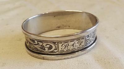 Sterling Oval Silver Napkin Ring, Birmingham 1950 Henry Griffiths & Sons