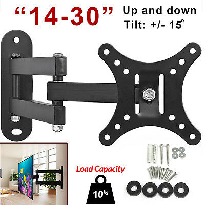 "Tilt & Swivel TV Wall Mount Bracket For 10 14 16 18 20 22 24 26"" LED LCD Plasma"