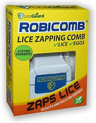 LiceGuard RobiComb Electronic Lice Zapping Comb for Lice & Nits 1 Ea (3 Pack)