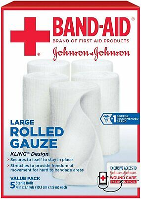Johnson & Johnson Red Cross Rolled Gauze 10.5 yd. - 5 Each, Pack of 6