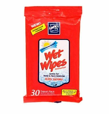 Lucky SuperSoft Wet Wipes 3 Pack (A total of 90 wipes)