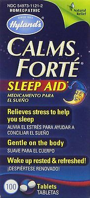 Hyland's Calms Forte Sleep Aid Tablets - 100 ct, Pack of 6