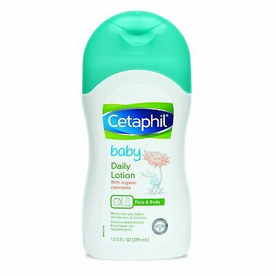 Cetaphil Baby Daily Lotion with Organic Calendula, Sweet Almond Oil and...