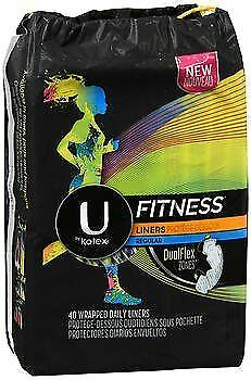 U by Kotex Fitness Regular Liners - 40 ct, Pack of 6