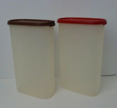Tupperware #1615 Modular Mate 12 1/4 Cups Oval Container #5 w/ Lids Lot of 2