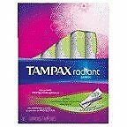 Tampax Radiant Plastic Super Absorbency Unscented Tampons 16 CT (Pack of 18)