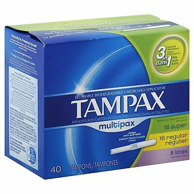 Tampax Tampon Multi Pack 40 Ct