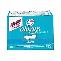 Always Maxi Pads, Regular Protection, 48-Count Packages (Pack of 3)