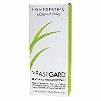 Yeast-Gard Women's Advanced Homeopathic Formula Suppositories 10 Ea (Pack of 4)
