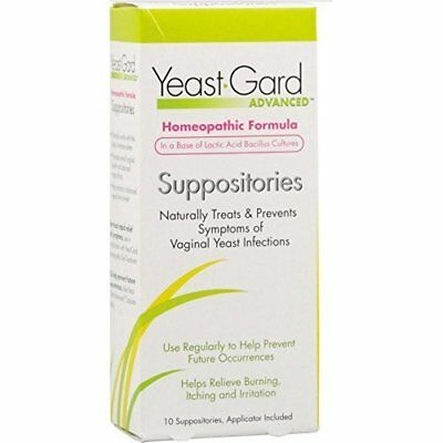 Yeast-Gard Women's Advanced Homeopathic Formula Suppositories 10 Ea (Pack of 12)