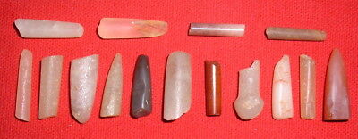 (15) Damaged Sahara Neolithic Plugs/Labrets, Prehistoric African Artifacts