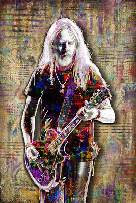 JERRY CANTRELL of ALICE IN CHAINS 12x18in Alice In Chains Tribute Free Shipping